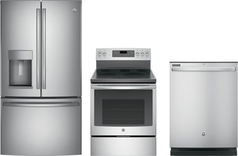 Ge gereradw179 3 piece kitchen appliances package with - 3 piece kitchen appliance package ...
