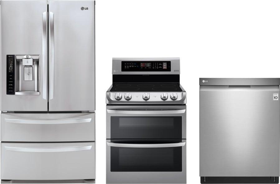 Lg lgreradw196 3 piece kitchen appliances package with - 3 piece kitchen appliance package ...