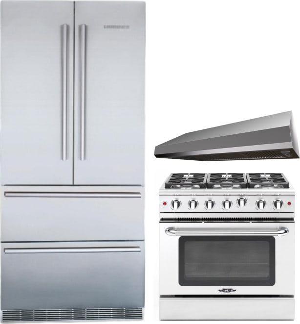 Liebherr lirerarh5 3 piece kitchen appliances package with - 3 piece kitchen appliance package ...