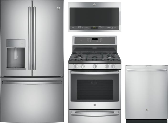 Ge Gereradwmw1376 4 Piece Kitchen Appliances Package With