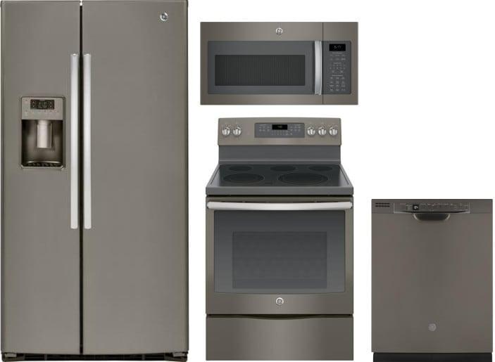 Ge Gereradwmw9954 4 Piece Kitchen Appliances Package With