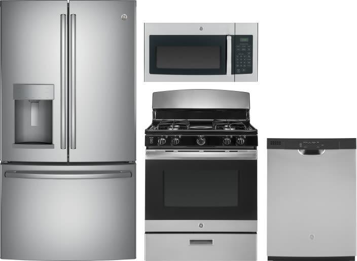 Ge Gereradwmw11170 4 Piece Kitchen Appliances Package With