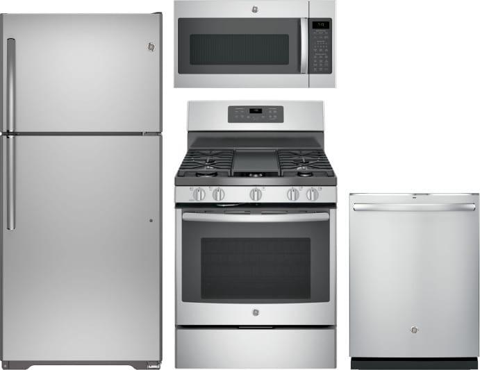 Ge Gereradwmw11205 4 Piece Kitchen Appliances Package With