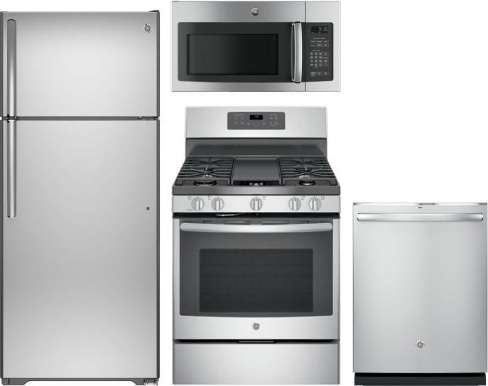 Ge Gereradwmw13294 4 Piece Kitchen Appliances Package With
