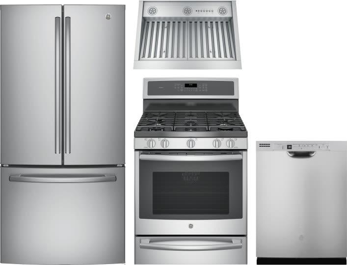 Ge Gereradwrh85 4 Piece Kitchen Appliances Package With