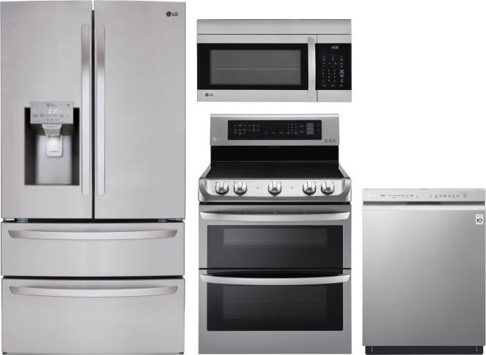 Lg Lgreradwmw4370 4 Piece Kitchen Appliances Package With