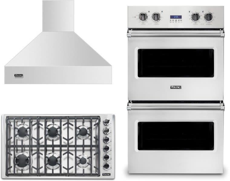Viking Victworh101 3 Piece Kitchen Appliances Package In Stainless Steel
