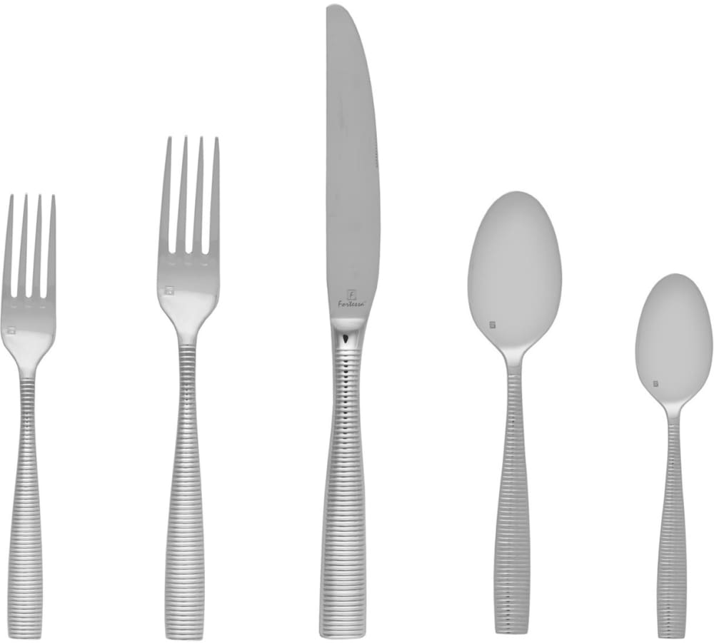 Fortessa 5pps10320pc ringo stainless steel 20 piece flatware set with heavy gauge stainless - Heavy stainless steel flatware ...