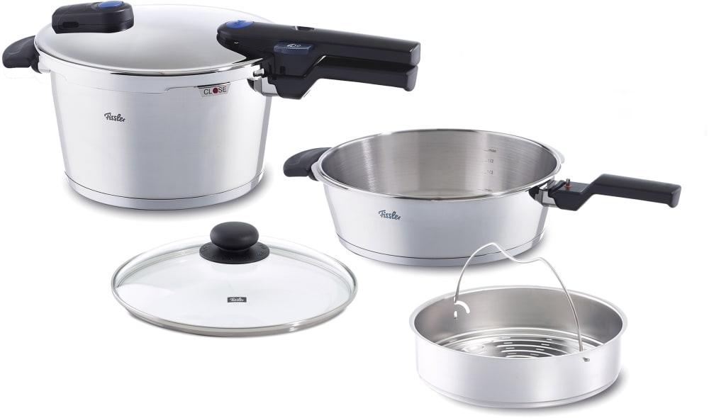 fissler 60030112099 vitaquick medium pressure cooker set with cookstar stove base novogrill. Black Bedroom Furniture Sets. Home Design Ideas
