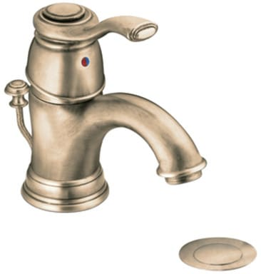 Moen Ca6102az Single Lever Lavatory Faucet With 6 Inch Reach 3 Inch Spout Height Metal Drain