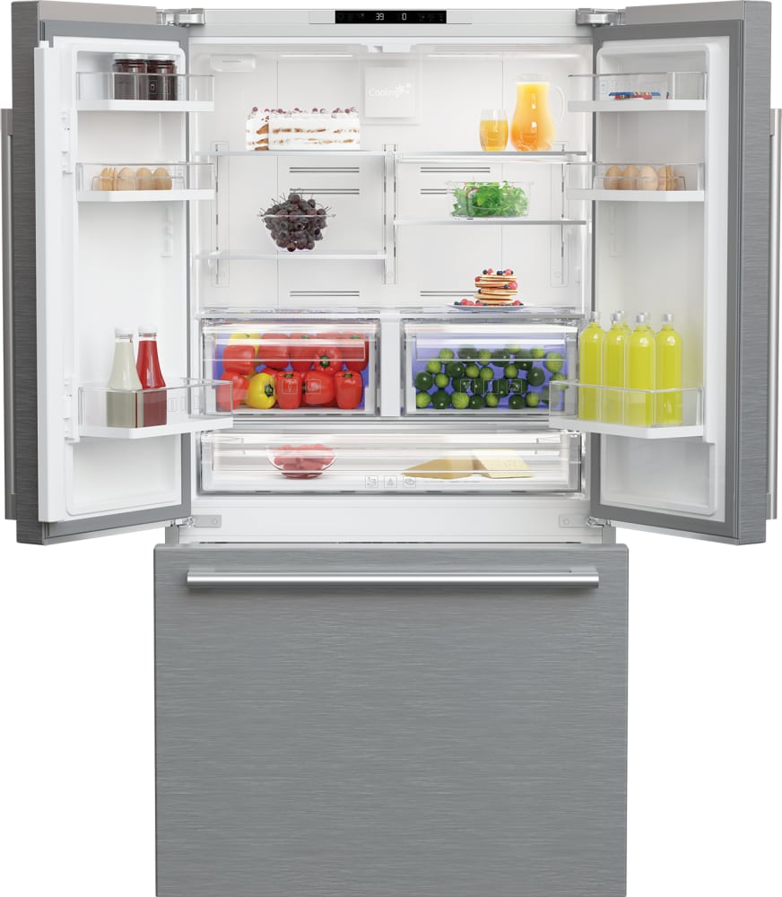 blomberg brfd2230ss 36 inch counter depth french door refrigerator with ion fresh blue light. Black Bedroom Furniture Sets. Home Design Ideas