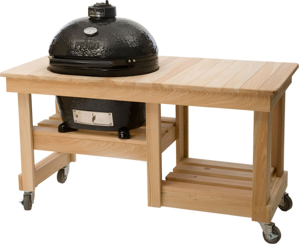 ... Primo Oval LG 300 775   Optional Countertop Cypress Grill Table ...