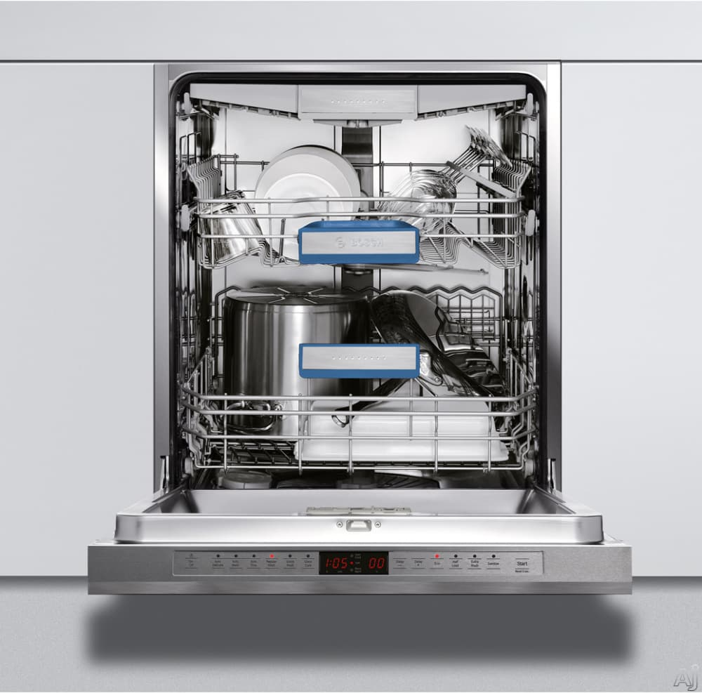 Interior Size 800 X 993 Type: Bosch SHE68E15UC Semi-Integrated Dishwasher With 15-Place