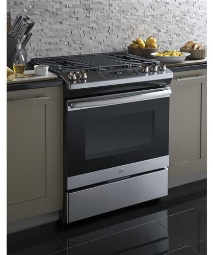 Ge Jgss66selss 30 Inch Slide In Gas Range With Integrated