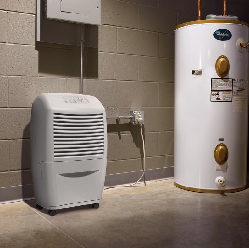 day ultra low temp basement dehumidifier with accudry sensing system