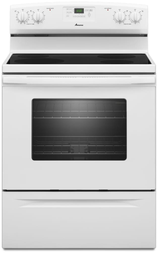 Amana Aer5330baw 30 Inch Freestanding Electric Range With