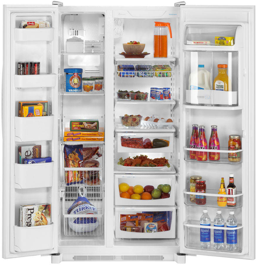 Amana side by side refrigerator reviews - Amana Asb2623hrw Main Amana Asb2623hrw Open View