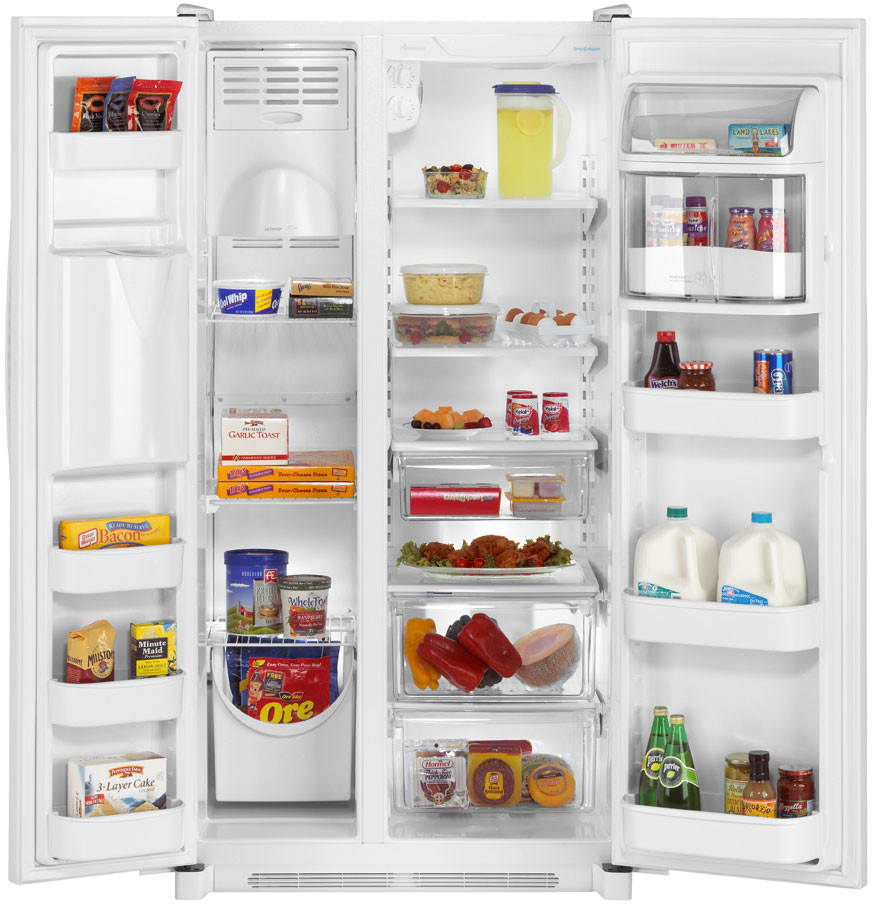 Amana side by side refrigerator reviews - Amana Asd2624hes Main Amana Asd2624hes Open View