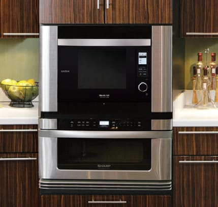 Sharp Supersteam Oven Ax1200k Installed With Microwave Drawer