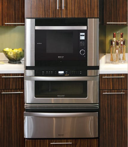sharp supersteam oven ax1200s installed with sharp microwave drawer and warming drawer - Sharp Drawer Microwave