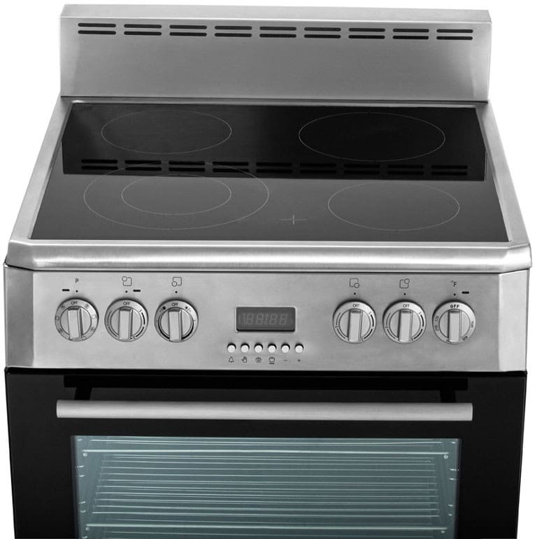 stove 24 inch. blomberg beru24100ss 24 inch freestanding electric range with true convection, 4 heating elements, storage drawer, 2.3 cu. ft. capacity, digital display and stove a