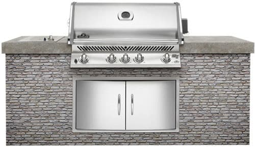 napoleon bipro600rbipss 38 inch built in gas grill with. Black Bedroom Furniture Sets. Home Design Ideas