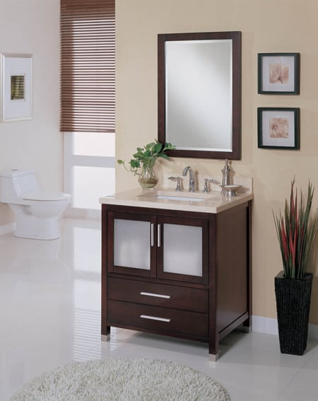 Empire Industries Madison 30 Bathroom Vanity empire industries ch31xdc 30 inch contemporary vanity with glass