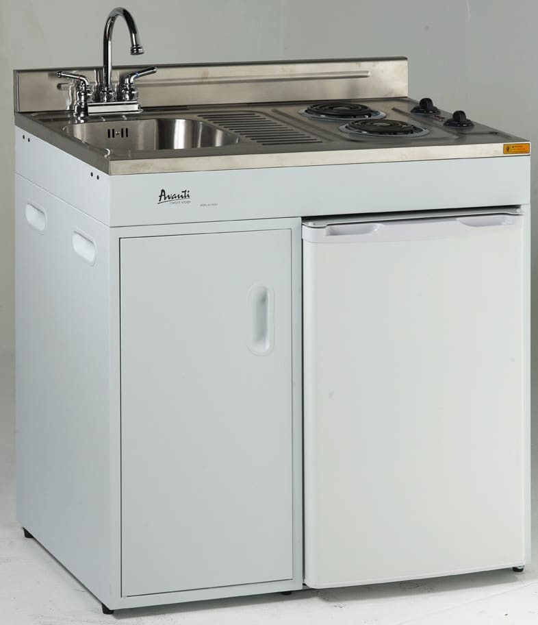 Avanti ck362 36 inch complete compact kitchen with 3 8 cu for Ajmadison