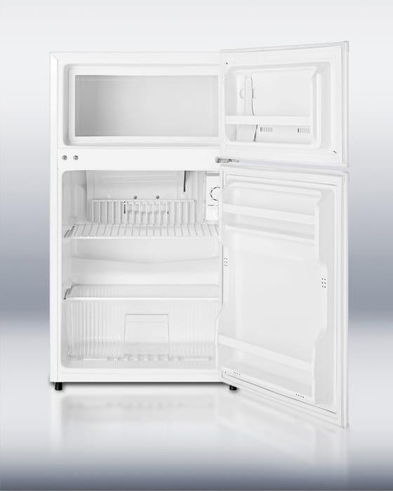 Summit CP35 2.9 cu. ft. Compact Top Freezer Refrigerator ... Open Empty Freezer