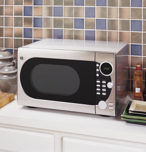 ge jes1288sh 1 2 cu ft countertop microwave oven with 1000 cooking watts removable oven rack. Black Bedroom Furniture Sets. Home Design Ideas