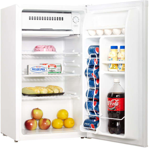 Danby DCR033A1WDB 3.3 cu. ft. Compact Refrigerator with 2 ... on