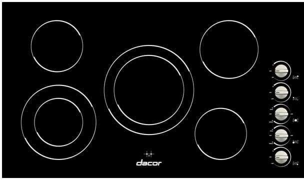 Dacor Dect365b 36 Inch Smoothtop Electric Cooktop With 5