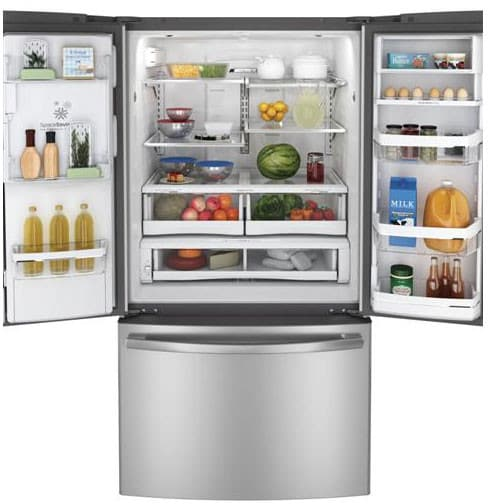 Ge Dfe29jsdss 28 6 Cu Ft French Door Refrigerator With