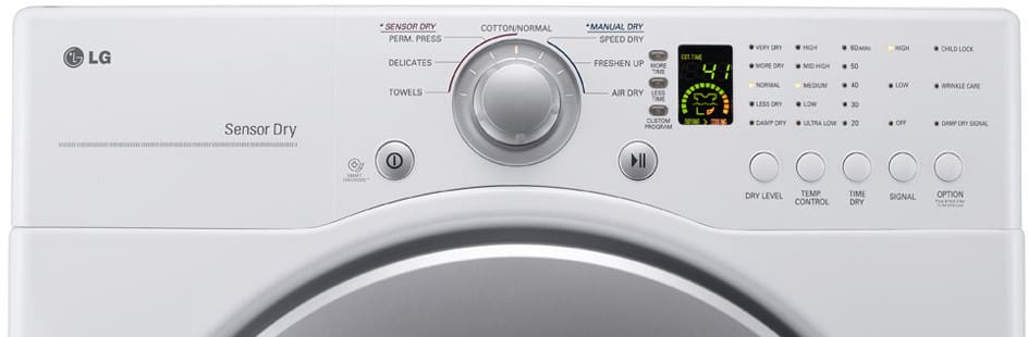 Lg Dle2240w 27 Inch Electric Dryer With 7 3 Cu  Ft