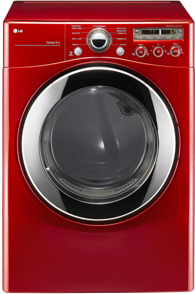 Lg Dle2350r 27 Inch Electric Dryer With 7 3 Cu Ft