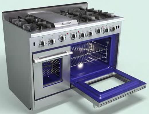 nxr drgb4801 blue porcelain interior - Gas Ovens