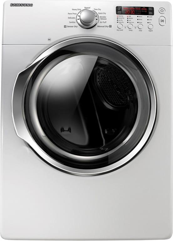 Samsung DV330AGW 27 Inch Gas Dryer with 7 3 cu  ft  Capacity