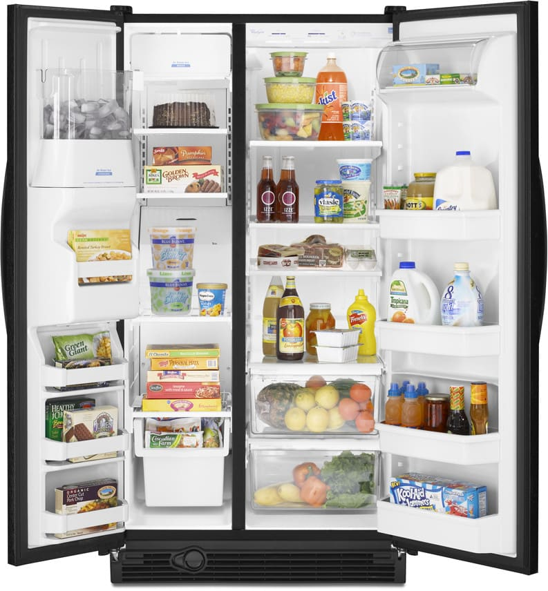 Whirlpool Ed5hhaxvb 25 3 Cu Ft Side By Side Refrigerator