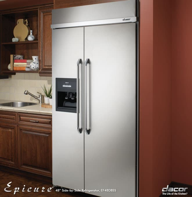 Dacor Ef48dbss 48 Inch Built In Side By Side Refrigerator