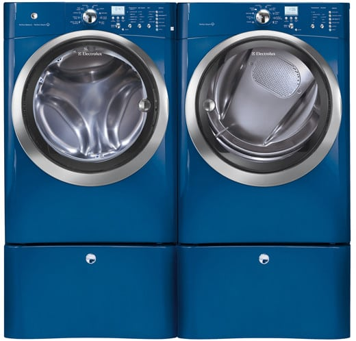 Blue Electrolux Iq Touch Series Eifls55imb Washer And Dryer Side By With