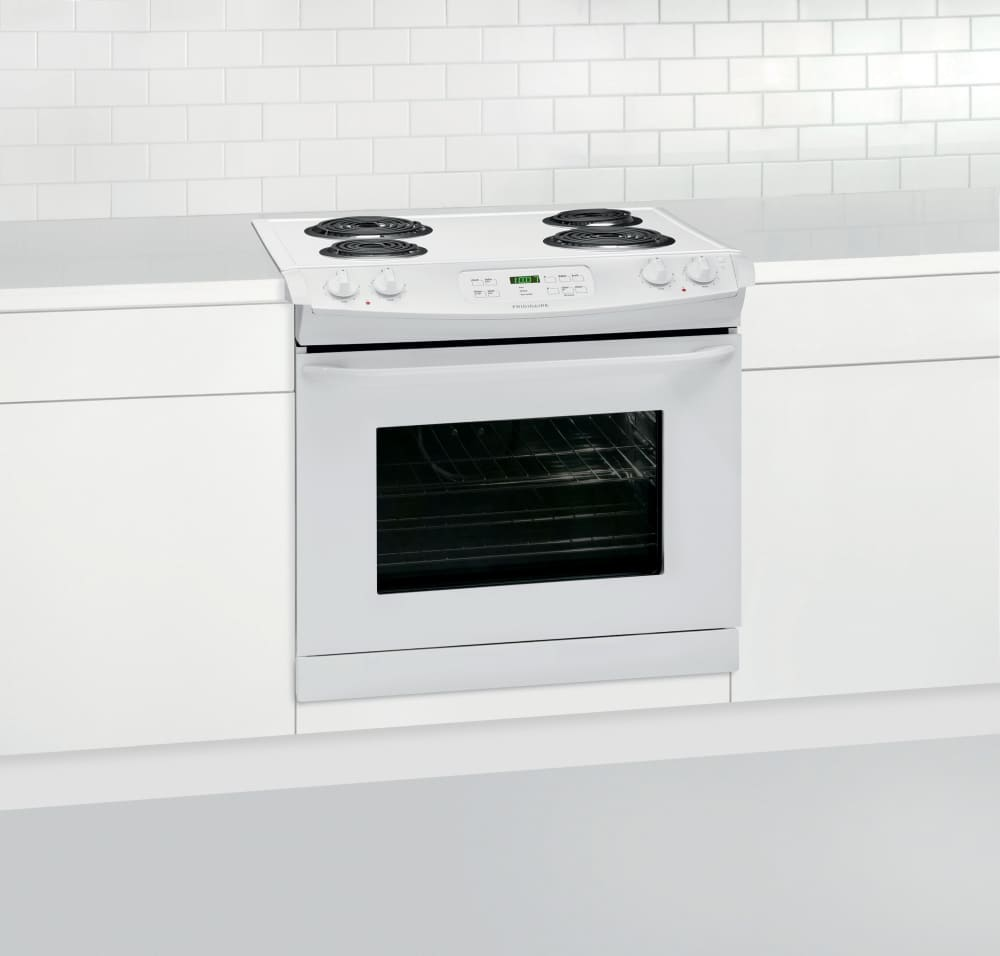 frigidaire ffed3015pw 30 inch drop in electric range with multiple broil options and ready. Black Bedroom Furniture Sets. Home Design Ideas