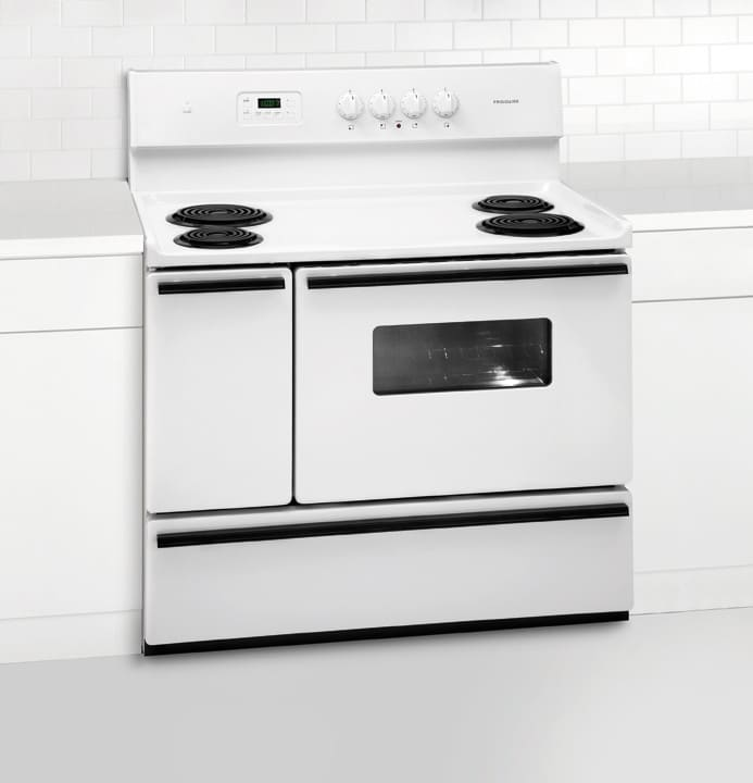frigidaire ffef4005lw 40 inch freestanding electric range with 4 coil elements 3 7 cu ft main. Black Bedroom Furniture Sets. Home Design Ideas