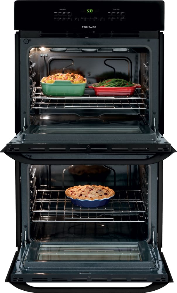 frigidaire ffet2725pb 27 inch double electric wall oven with 3 8 cu ft self clean ovens delay. Black Bedroom Furniture Sets. Home Design Ideas