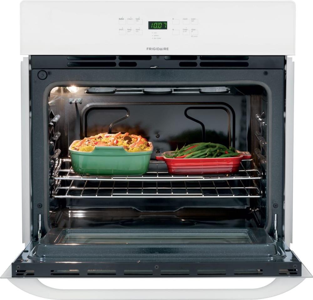 frigidaire ffew3025pw 30 inch single electric wall oven with 4 6 cu ft self clean oven delay. Black Bedroom Furniture Sets. Home Design Ideas