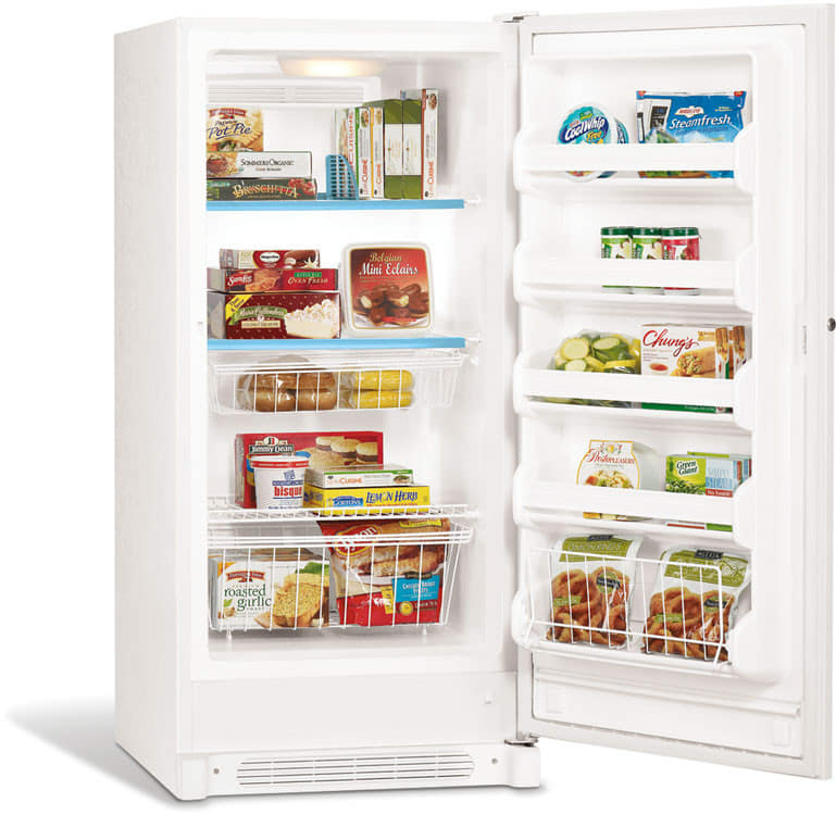 frigidaire ffu14f7hw shown with door open - Frigidaire Upright Freezer