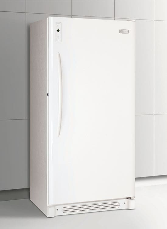 frigidaire ffu21f5hw 20 5 cu ft upright freezer with 4 wire shelves ready select upfront. Black Bedroom Furniture Sets. Home Design Ideas