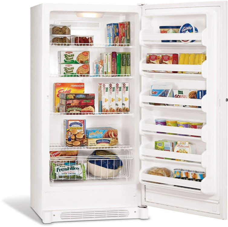 Frigidaire FFU21F5HW 20.5 cu. ft. Upright Freezer with 4 Wire ...