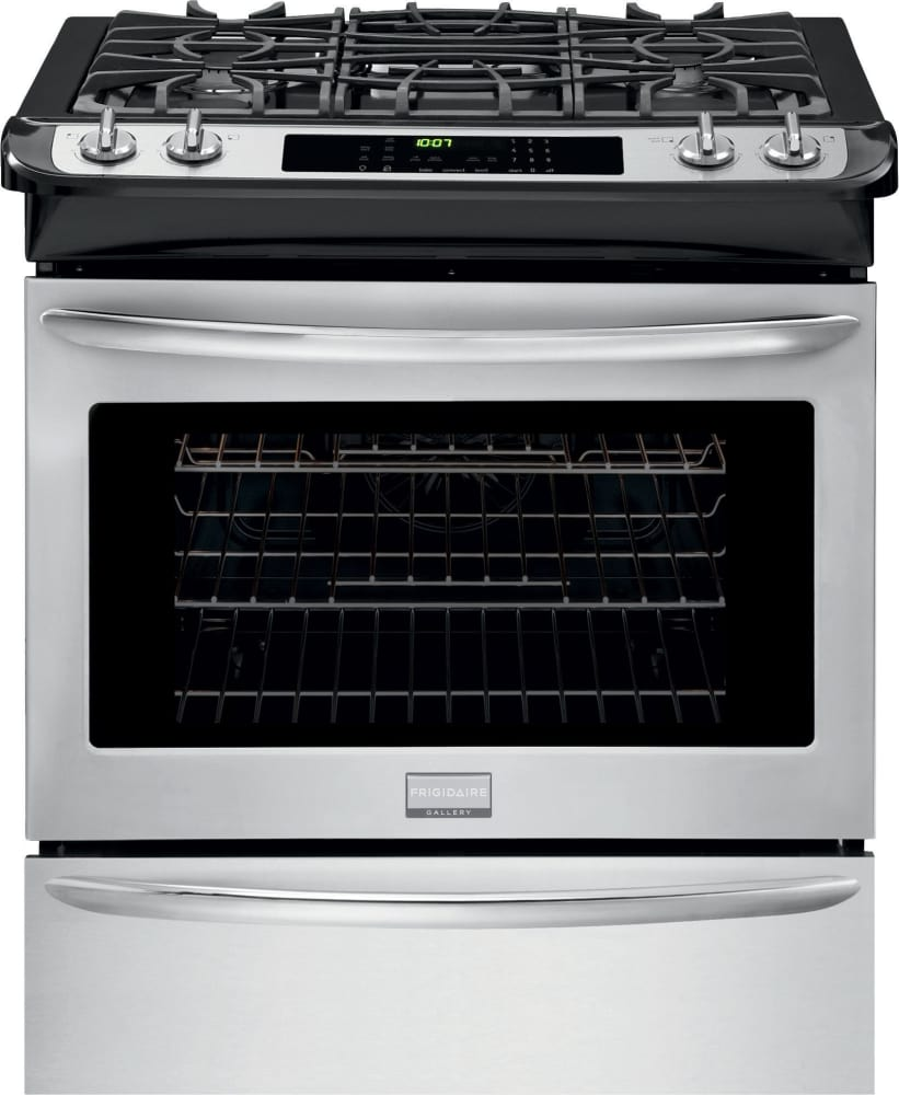 Frigidaire fggs3065pf 30 inch slide in gas range with true convection quick preheat self clean - Clean gas range keep looking new ...
