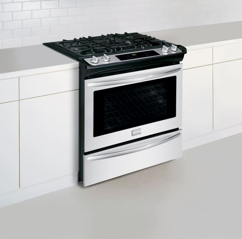 frigidaire fggs3065pf 30 inch slide-in gas range with true