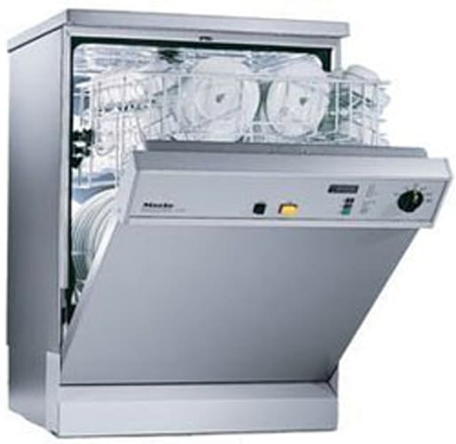 miele  full console commercial dishwasher   wash programs cutlery tray sanitary